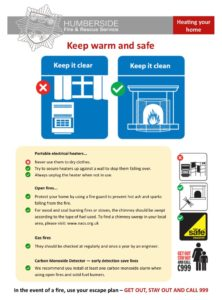 Keep Warm & Safe Information Poster