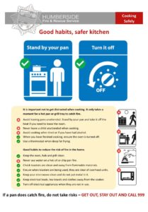 Safer kitchen information poster